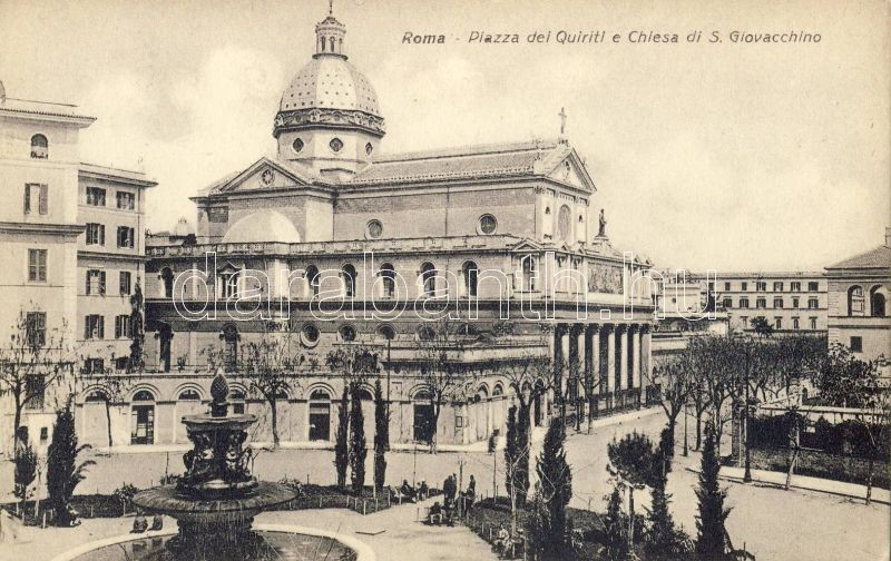 Rome, Roma; Piazza dei Quiriti e Chiesa di S. Giovacchino, Enrico Verdesi / square, church