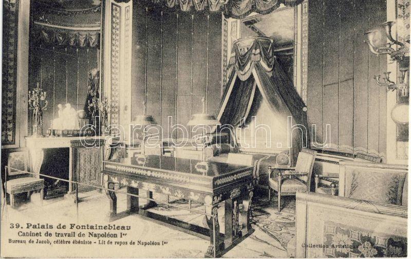Fontainebleau, Palais, Cabinet de travail de Napoleon / palace, workroom, interior
