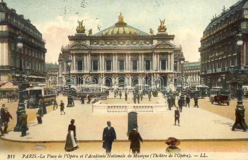 Paris, Opera, Academie Nationale de Musique / tram, automobile