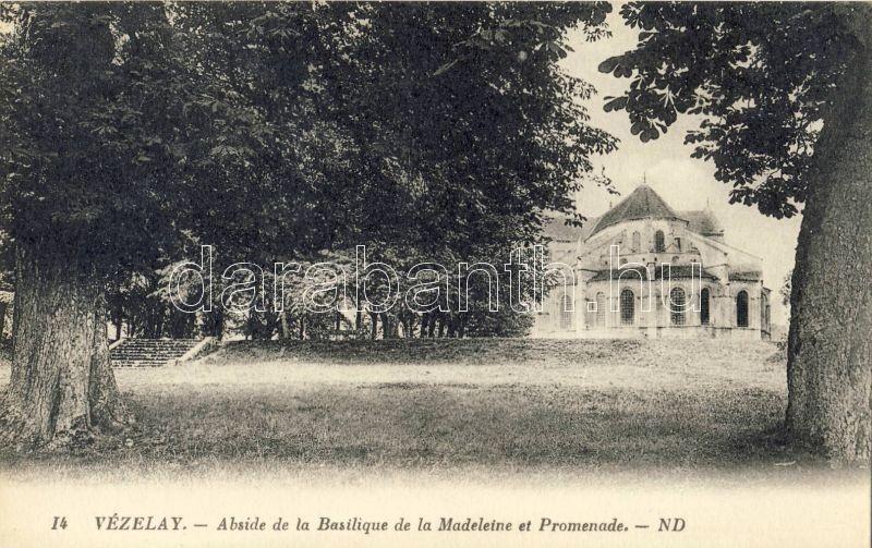 Vézelay, Abside de la Basilique de la Madeleine, promenade / basilica, promenade