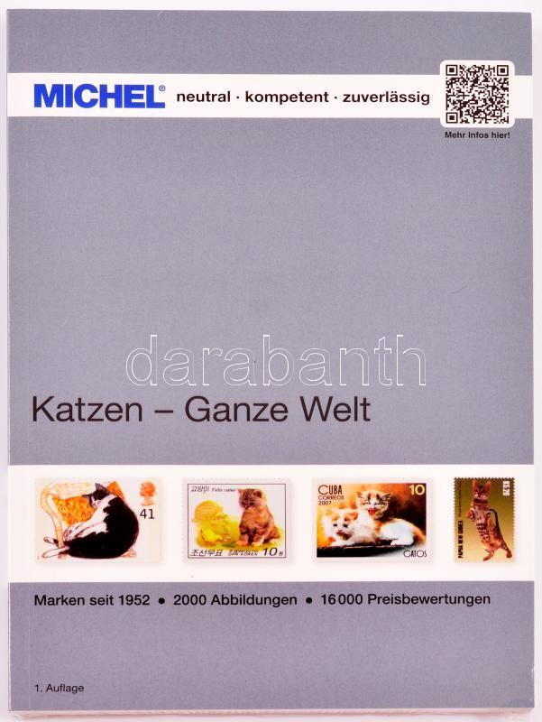 MICHEL Katzen-Ganze Welt katalog, Michel Macskák motívum katalógus, MICHEL Vögel-Ganze Welt katalog