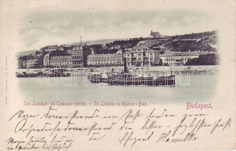 1898 Budapest Lukács és Császár fürdő, gőzös