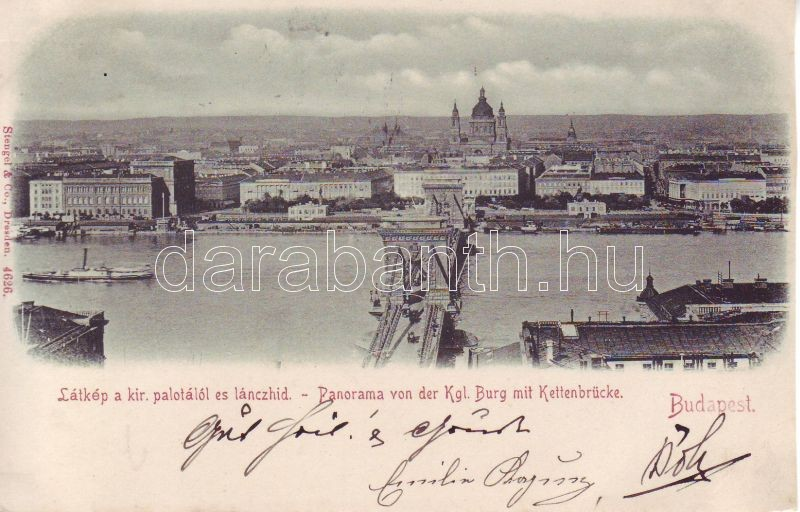 1898 Budapest Lánchíd, Királyi palota