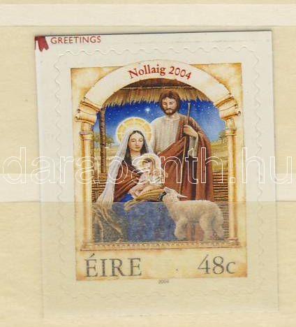 Christmas self-adhesive stamp, Karácsony öntapadós bélyeg, Weihnachten selbstklebende Briefmarke