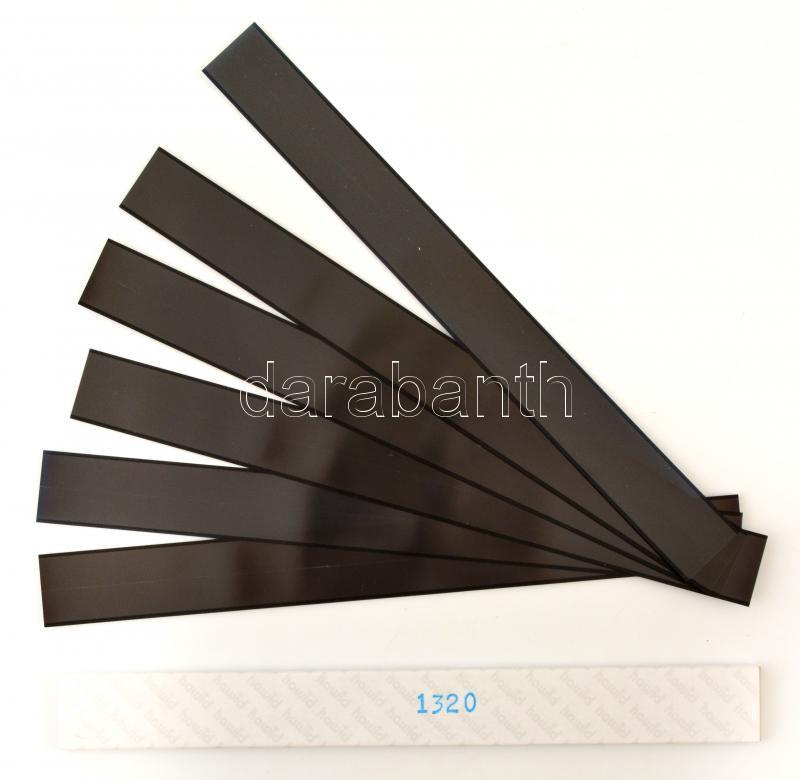 hawid Strips for coil strips 255 x 22 mm, black - pack of 25, HA1320 filacsík 255 x 22 mm, fekete, 25db/ csomag, hawid Klemmtaschen Streifen für Rollenmarken 255 x 22 mm, schwarz, 25 Stück