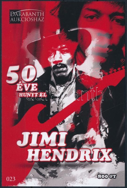 Jimi Hendrix, 50 éve hunyt el Jimi Hendrix emlékív