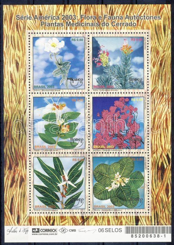 Herbs minisheet, Gyógynövények kisív, Einheimische Fauna und Flora Kleinbogen