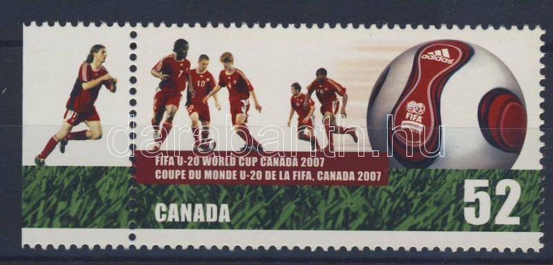 FIFA U20 world cup margin stamp, FIFA U20 világkupa ívszéli bélyeg, Fußball-Weltmeisterschaft der U-20-Junioren Marke mit Rand
