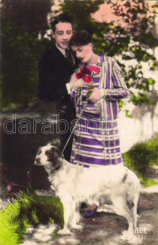 Couple with dog, Pár kutyával
