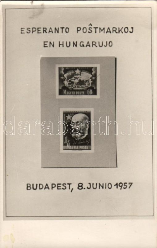Hungarian Esperanto stamp (non pc), Magyar eszperantó bélyeg (nem képeslap)