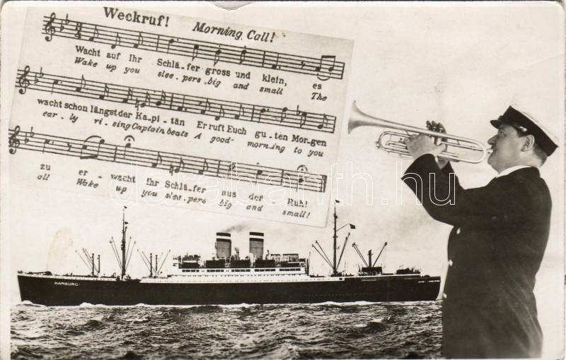 SS Hamburg, morning call, SS Hamburg, reggeli ébresztő