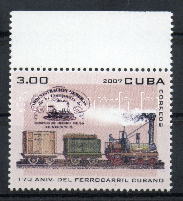 170th anniversary of the railway margin stamp, 170 éves a vasút ívszéli bélyeg, 170 Jahre Eisenbahn Marke mit Rand