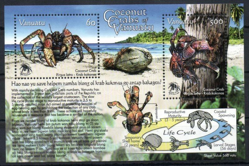 Coconut crabs block, Kókuszrák blokk, Palmendiebe Block
