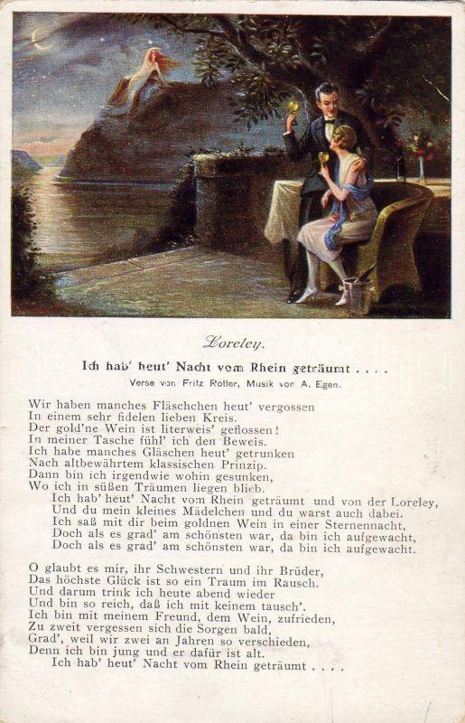 Loreley, 'Ich hab' heut' Nacht vom Rhein geträumt...', Loreley, 'Ich hab' heut' Nacht vom Rhein geträumt...'