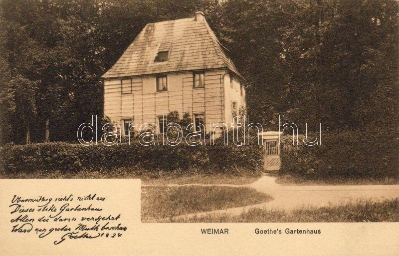 Weimar Goethe's summer house, Weimar Goethe nyaralója