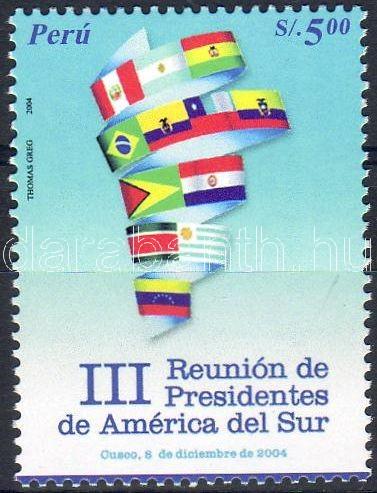 Summit meeting of South-American presidents stamp, Dél-Amerikai elnökök csúcstalálkozója bélyeg, Kongress südamerikanischer Staatspräsidenten Marke