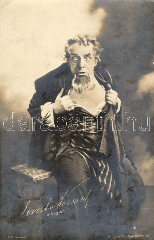 Ernest Cossart mint Shylock, Ernest Cossart as Shylock