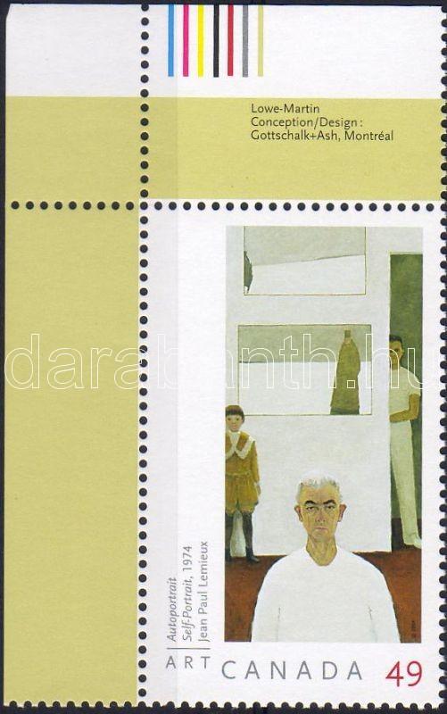 Lenieux modern painting corner stamp, Lenieux modern festmény ívsarki bélyeg, Lenieux modernes Gemälde Marke mit Rand