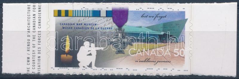 War museum margin stamp, Háborús múzeum ívszéli bélyeg, Kriegsmuseum Marke mit Rand