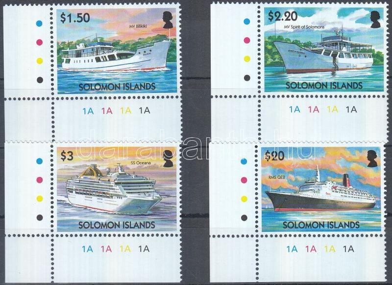 Commercial vessels corner set, Kereskedelmi hajók ívsarki sor, Handelsschiffe Satz mit Rand