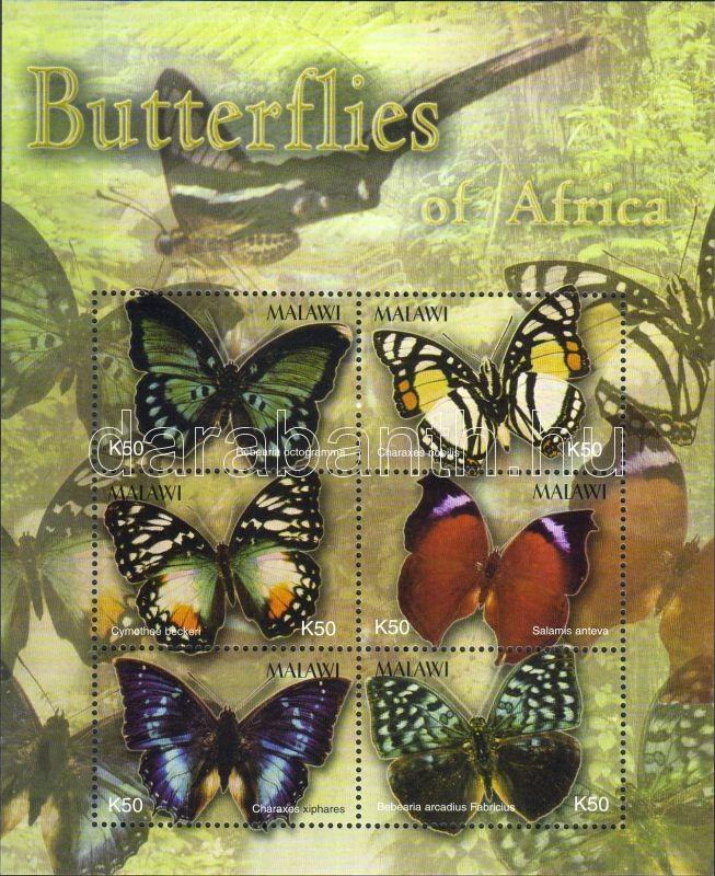 Butterflies minisheet, Lepkék kisív, Schmetterlinge Kleinbogen