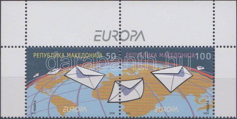 Europa CEPT margin pair, Europa CEPT ívsarki pár, Europa CEPT Paar mit Rand