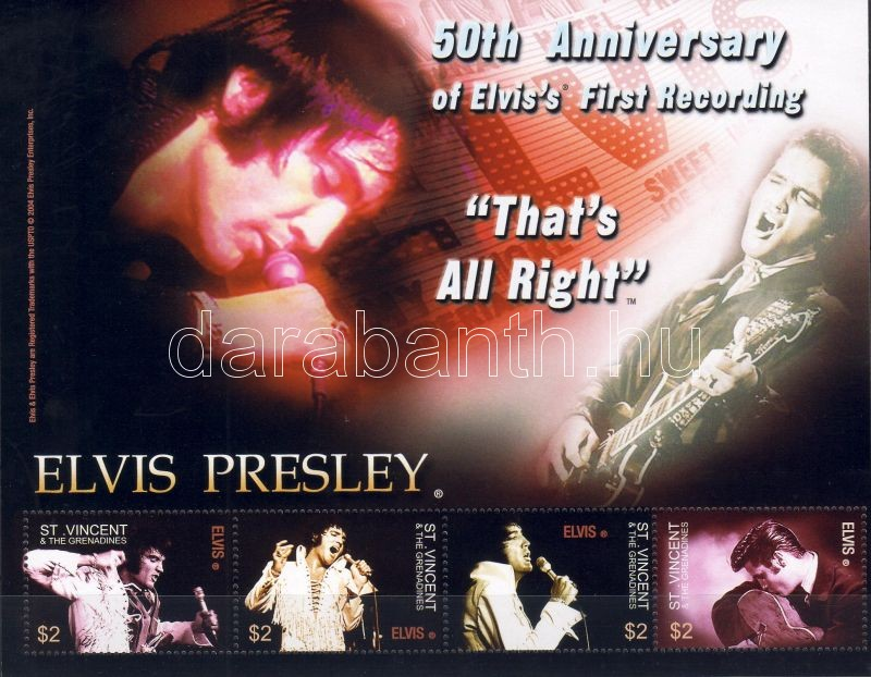 Elvis Presley minisheet, Elvis Presley kisív, Elvis Presley Kleinbogen