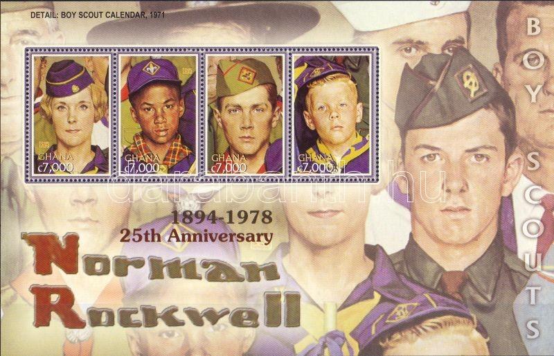 25th anniversary of Norman Rockwell's death minisheet, 25 éve halt meg Norman Rockwell kisív, 25. Todestag von Norman Rockwell Kleinbogen
