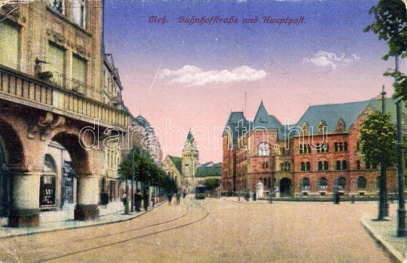 Metz Railway street, post office, Metz Vasút utca, főposta