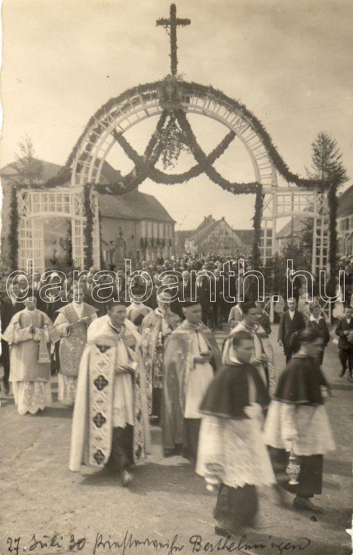 Berthelming, religious ceremony, priests, photo, Berthelming, vallási ceremónia, papok, photo