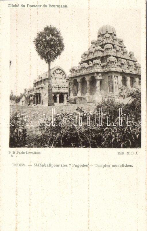 Mahabalipuram, Monolithic temples