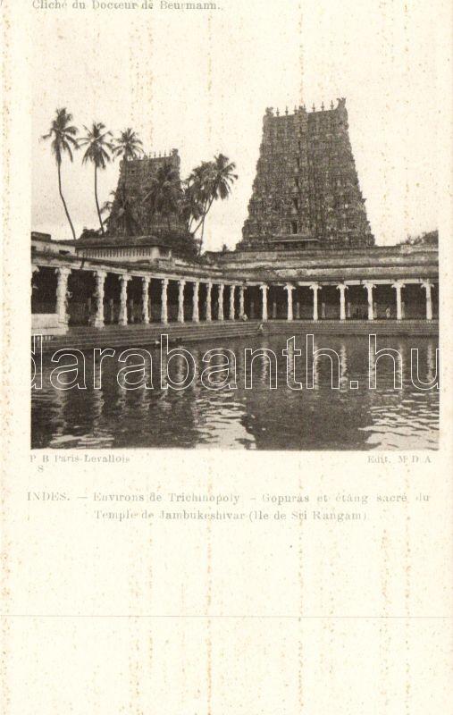 Tiruchirapalli, Jambukeswarar Temple, Gopurams pond