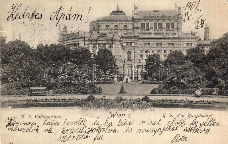 Bécs I. Színház, Népkert, Vienna I. Theatre, garden
