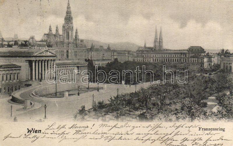 Vienna, Franzensring, Bécs, Franzensring