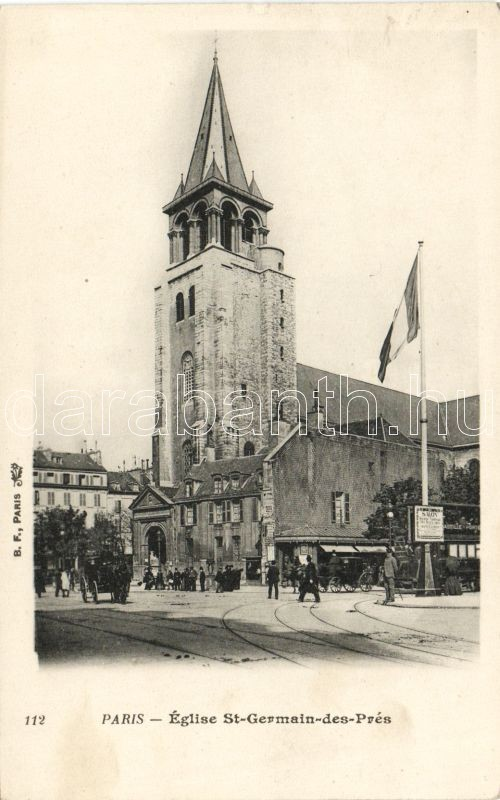 Paris, Eglise St Germain des Prés / church, tram