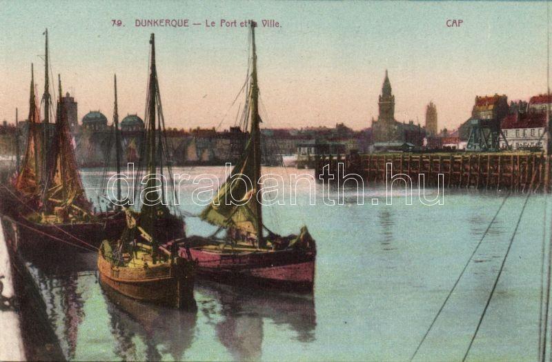 Dunkirk, Dunkerque; port, sailing ships