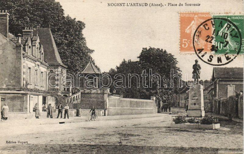Nogent-l'Artaud, Place du Souvenir / square, statue