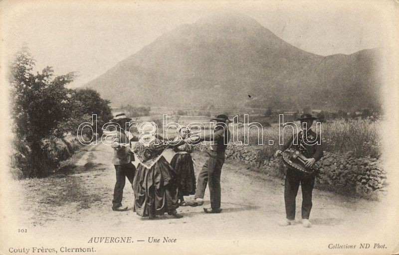Auvergne, Une Noce / wedding, French folklore, Auvergne, Francia folklór, esküvő