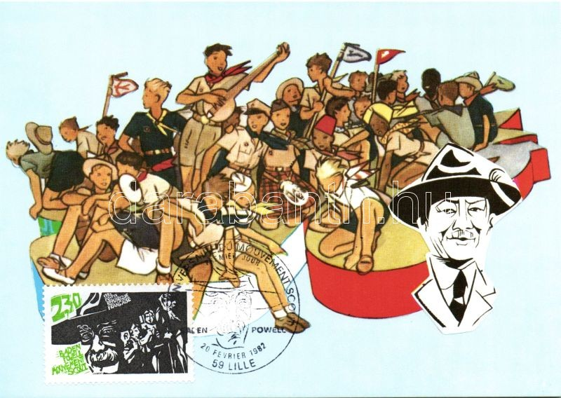 1982 75th anniversary of the Scout Movement, Baden Powell So. Stpl CM, 1982 A Cserkész Mozgalom 75. évfordulója, Baden Powell So. Stpl CM