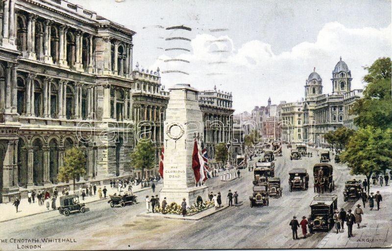 London, Cenotaph Whitehall, automobile s: A. R. Quinton