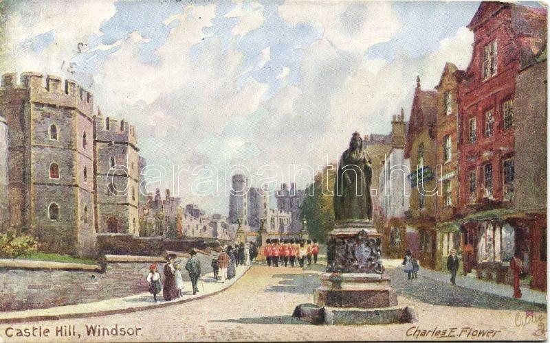 London, Castle Hill, Windsor, Raphael Tuck & Sons, Oilette 7939. s: Charles F. Flower