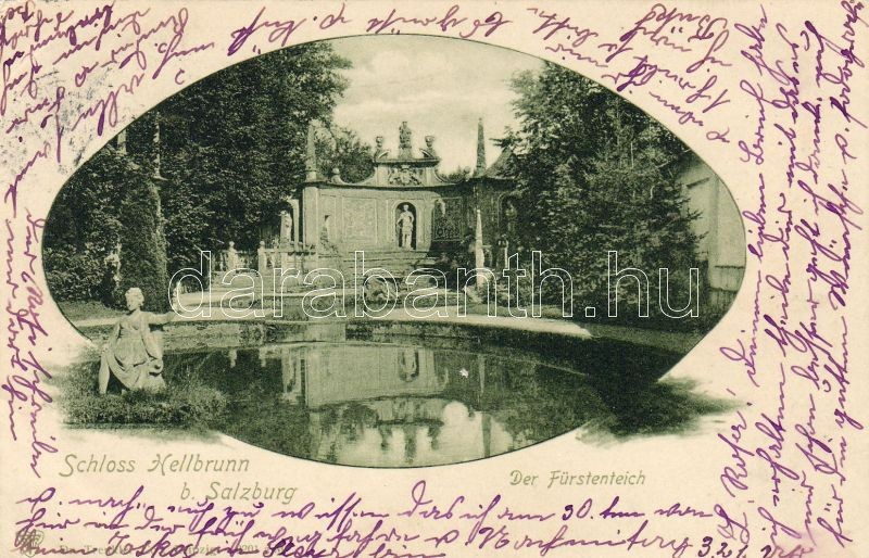 Salzburg Hellbrunn Palace, Prince pond, Salzburg Hellbrunn kastély, hercegi tó