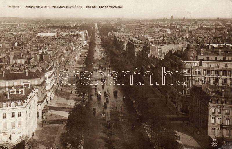 Paris, Champs Elysées, Pris de l'Arc de Triomphe, automobiles