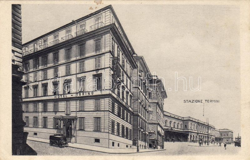Rome, Hotel Torino, Railway station, Róma, Torino Hotel, Vasútállomás