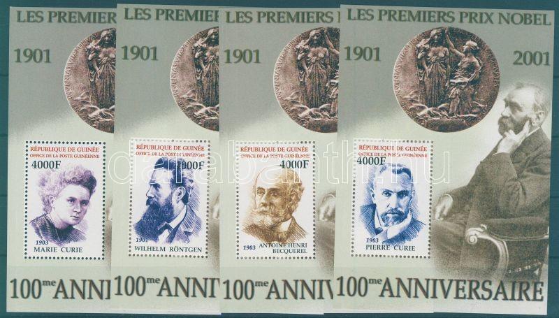 100th anniversary of the Nobel Prize block set, 100 éves a Nobel-díj blokksor, 100 Jahre Nobelpreise Blocksatz