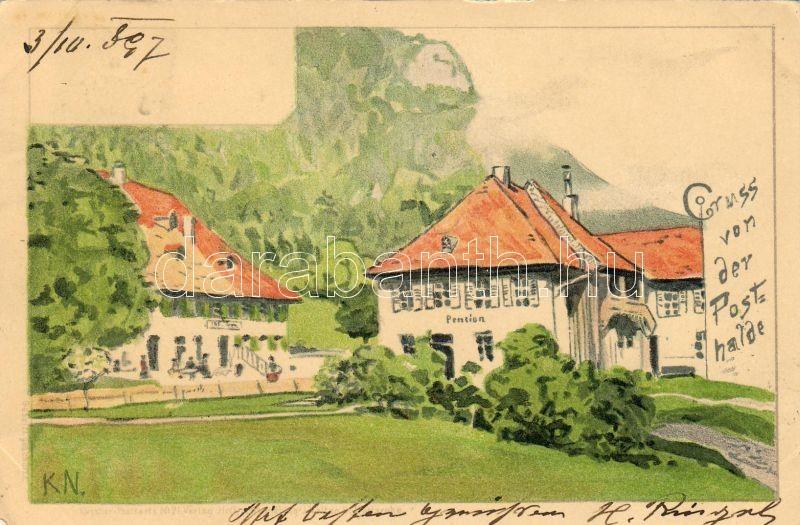 1897 Posthalde, Breitnau; hotel s: Karl Naumann, 1897 Posthalde, Breitnau; penzió s: Karl Naumann