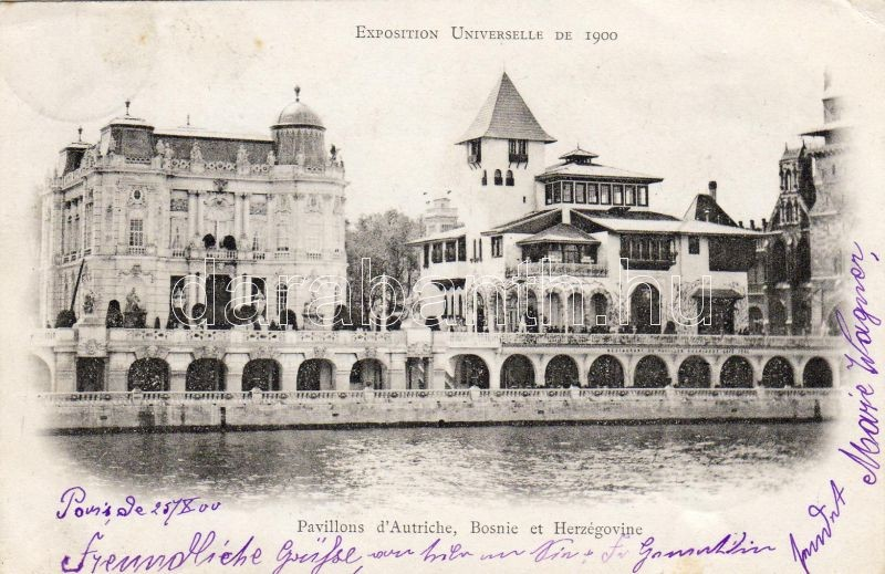 1900 Paris, Exposition Universelle, Bosnia and Herzegovina's pavilion, 1900 Párizs, Exposition Universelle, világkiállítás Bosznia-Hercegovina pavilonja