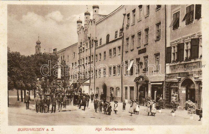 Burghause Seminar, confectionery of Stegmüller, Burghausen szeminárium, Stegmüller cukrászdája