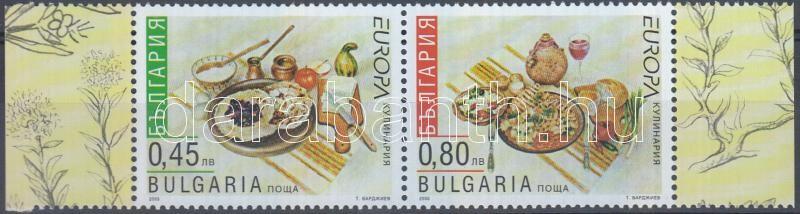 Europa CEPT gasztronómia ívszéli pár, Europa CEPT gastronomy margin pair, Europa CEPT Gastronomie Paar mit Rand