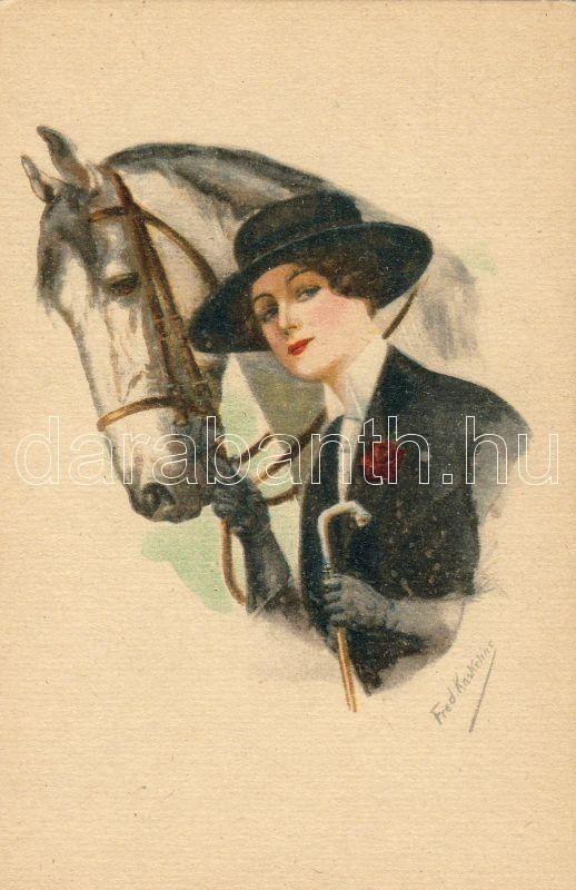 Lady with horse, s: Kaskeline, Hölgy lóval, s: Kaskeline
